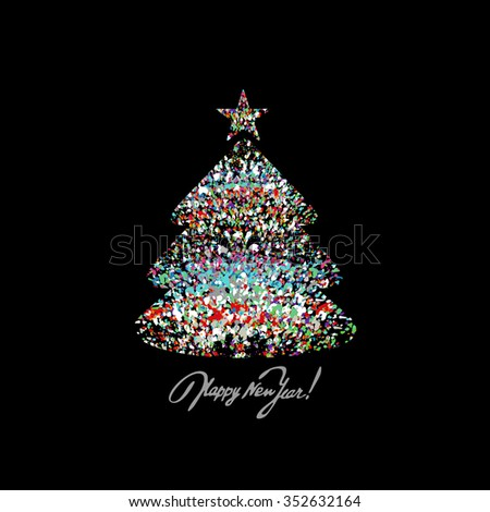 Christmas background with colorful splash. A vector. - stock vector