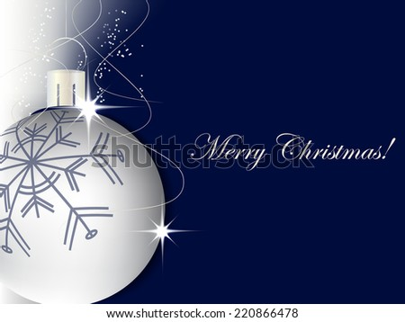 Christmas background with decoration and christmas ball, christmas greeting card/vector illustration - stock vector