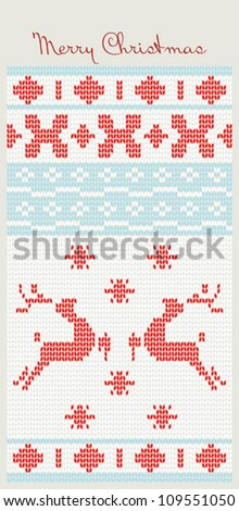 Christmas Background with deer - stock vector