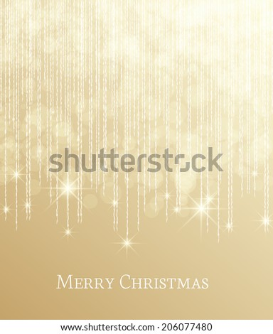 Christmas background with falling stars - stock vector