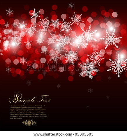 christmas background with place for new year text invitation - stock vector