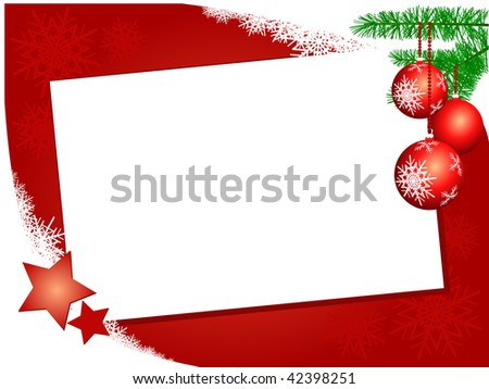 Christmas background with postcard, vector
