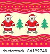 Christmas background with Santa Claus. - stock vector