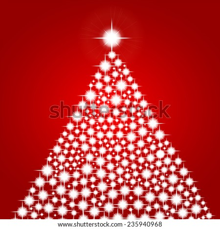 Christmas background with shiny christmas tree  - stock vector
