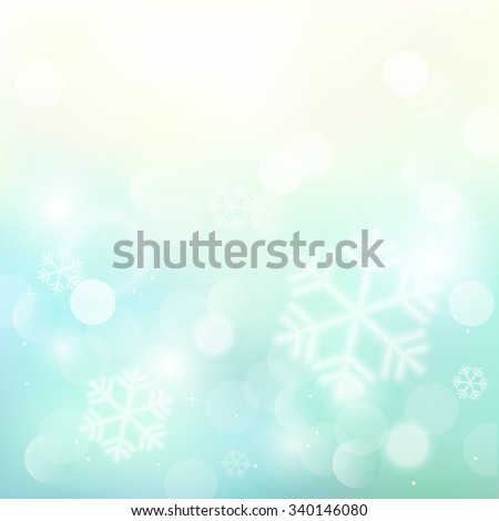 Christmas background with snowflakes and sparkles. Vector illustration. - stock vector