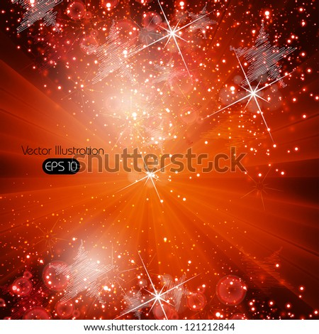 Christmas background with snowflakes, eps 10 - stock vector