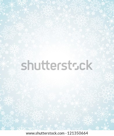 Christmas background with snowflakes. Greeting card - stock vector