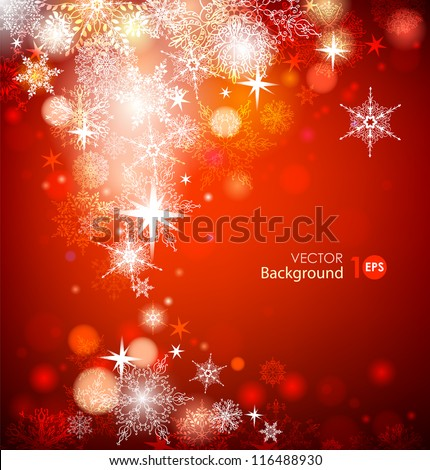 Christmas background with snowflakes. Vector eps 10.