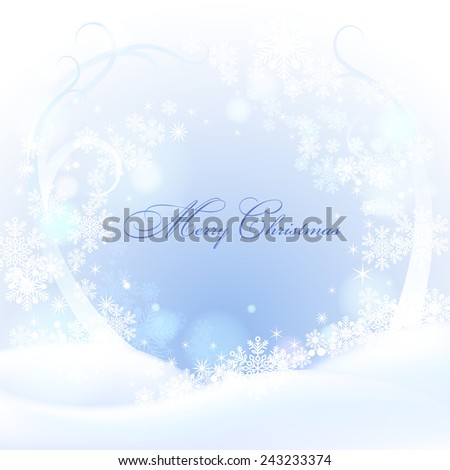 Christmas background with snowflakes. Vector eps 10. - stock vector