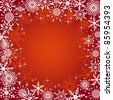 Christmas background with snowflakes. Vector illustration. - stock vector