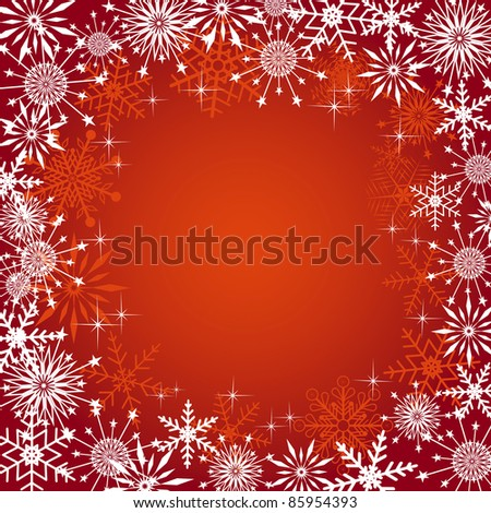 Christmas background with snowflakes. Vector illustration.