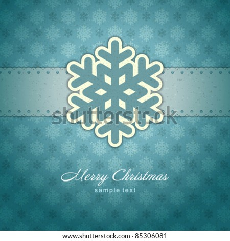 Christmas background with snowflakes vector image. Eps 10. - stock vector