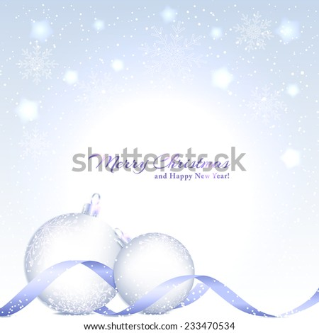 Christmas Background with Sparkling Crystal Ball and Star - stock vector