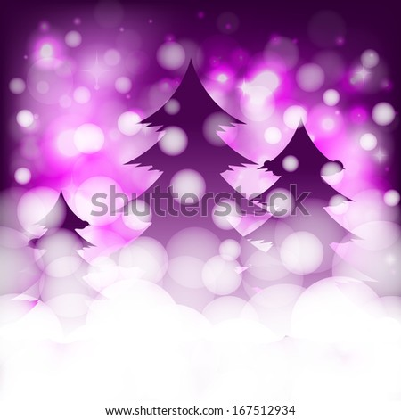 Christmas background with spruces - stock vector