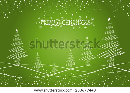 Christmas Background with Stylish Trees - stock vector