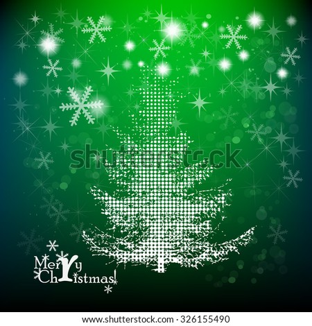 Christmas background with tree. Vector - stock vector