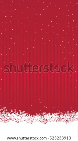 Christmas Background Wtih Snow Happy Winter Holiday Snowfall Wallpaper Vertical Greeting Card Design With