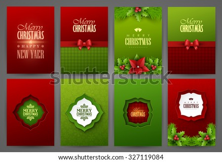 Christmas backgrounds set - stock vector