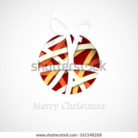 Christmas ball - stock vector