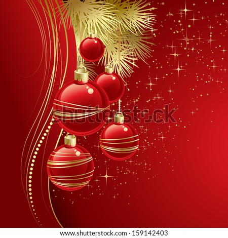 Christmas ball background. Vector  illustration