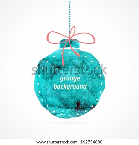 Christmas ball. Christmas decoration. Festive christmas postcard. - stock vector