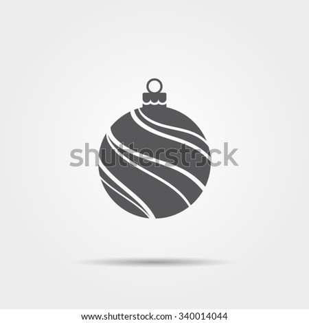 Christmas ball icon - stock vector
