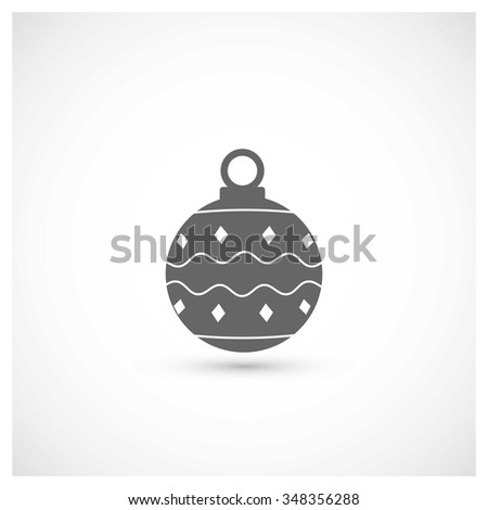Christmas ball icon. Decorative Pictogram for Christmas. Flat Xmas Icon - stock vector