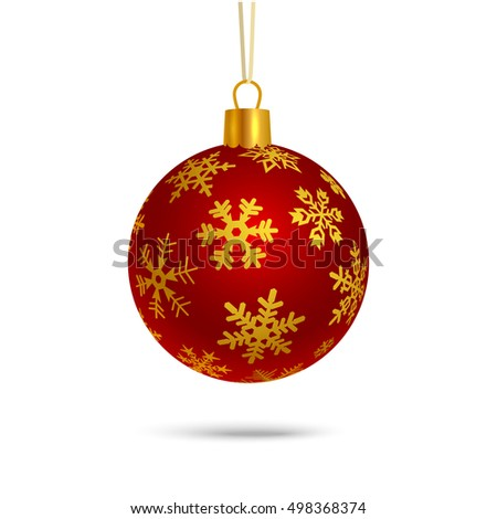 Christmas ball, isolated on white background vector illustration