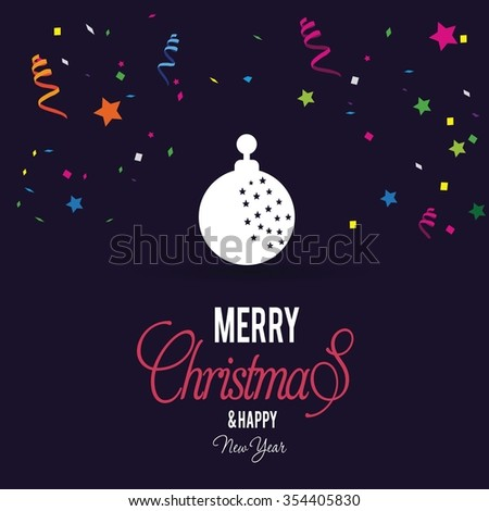 Christmas Ball Ornaments card Design