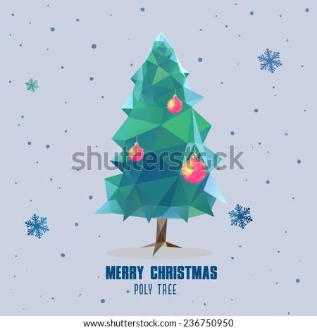 Christmas ball polygonal design - stock vector