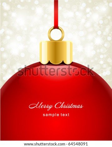 Christmas ball vector background - stock vector
