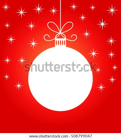 Christmas ball. Vector illustration
