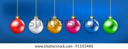 Christmas balls - stock vector