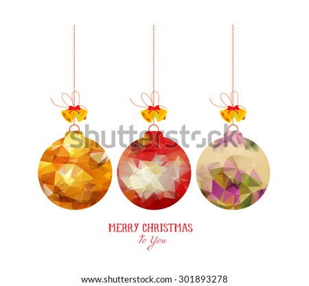Christmas balls abstract isolated on a white backgrounds - stock vector