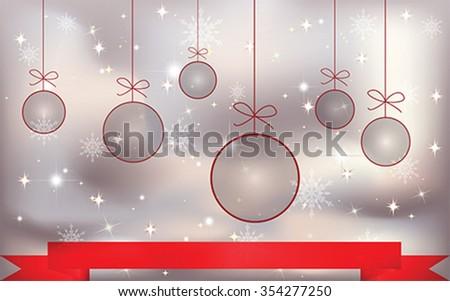 christmas balls  background, vector - stock vector