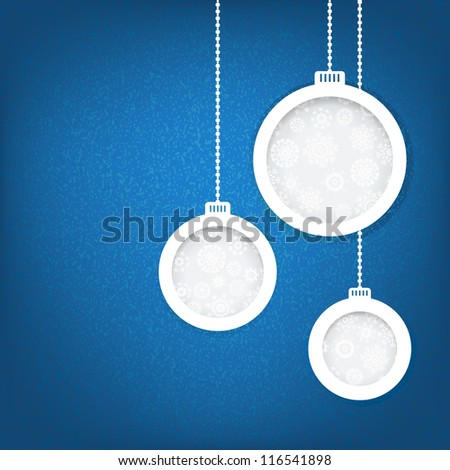 Christmas balls cut from paper concept. + EPS8 vector file - stock vector
