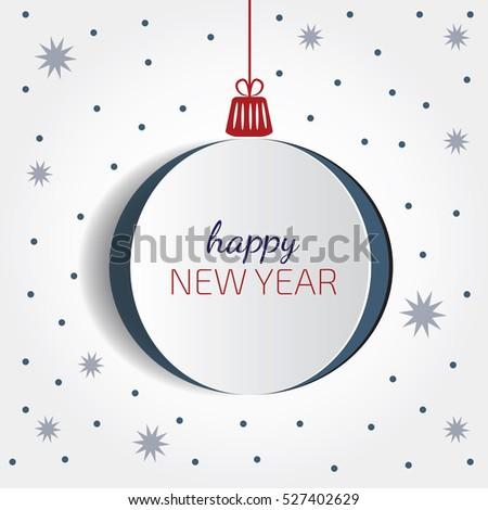 Christmas Balls Cut Paper White Origami Stock Vector 527402629 ...