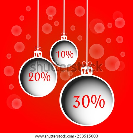 christmas balls for discount. vector