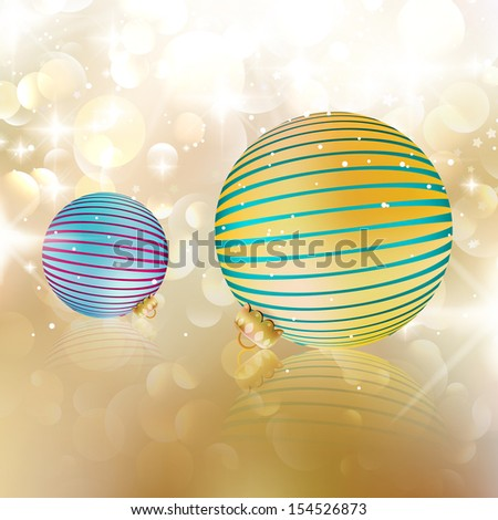 Christmas balls on abstract background. EPS10