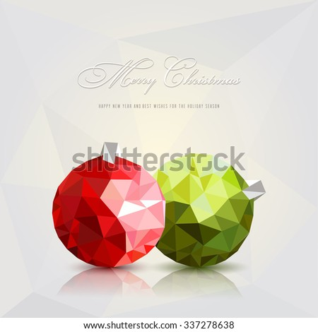 Christmas balls.Vector - stock vector