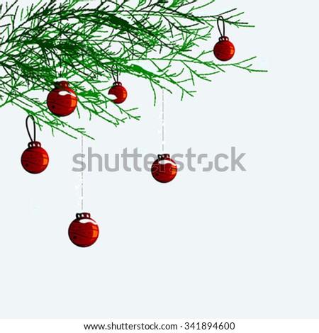 christmas balls vector - stock vector