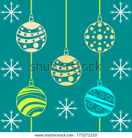 Christmas balls. Vector illustration.