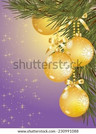 Christmas balls. Vector illustration for xmas - stock vector