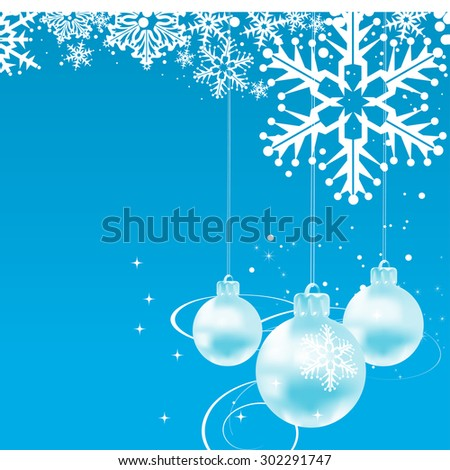 Christmas balls wallpaper blue