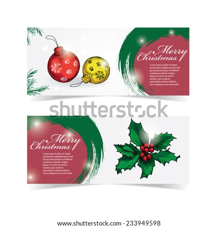 Christmas banners. hand drawn vector design