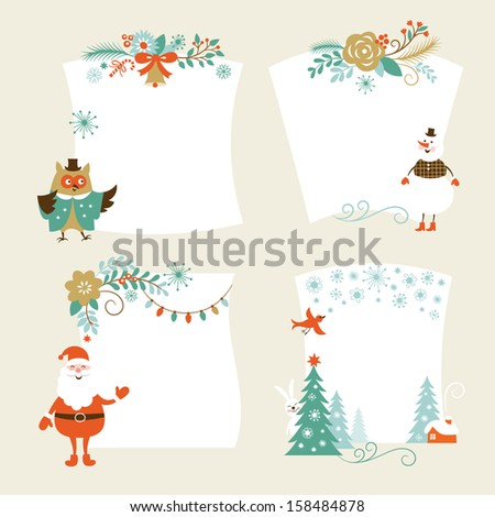 Christmas banners, place for your text, holiday graphic symbol - stock vector