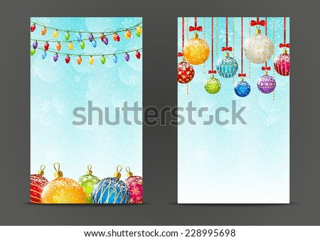 Christmas banners 240 x 400 size - stock vector