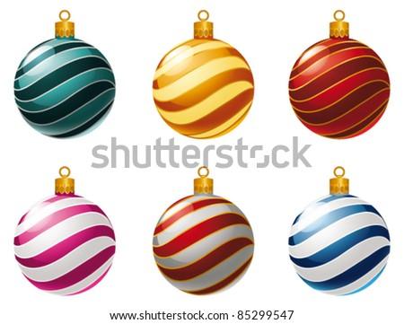 Christmas bauble collection. Vector