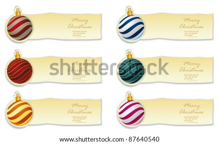 Christmas bauble collection. Vector - stock vector