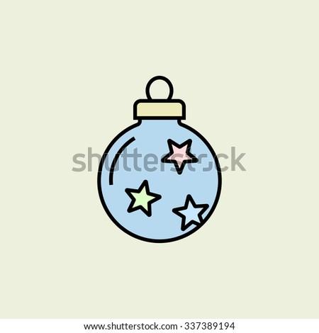 Christmas bauble icon. Vector icon. Linear style - stock vector